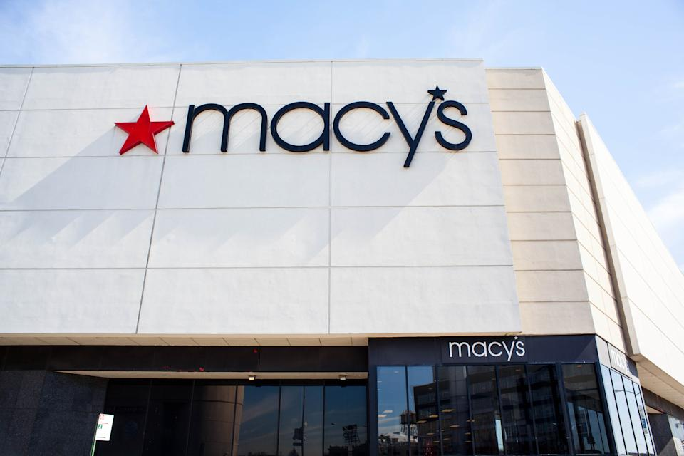 New York City, NY, USA - March 13, 2015: View of Macy's box store in Queens Center Mall.