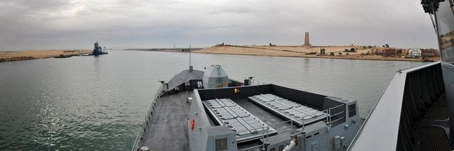 HMS Daring in the Suez Canal
