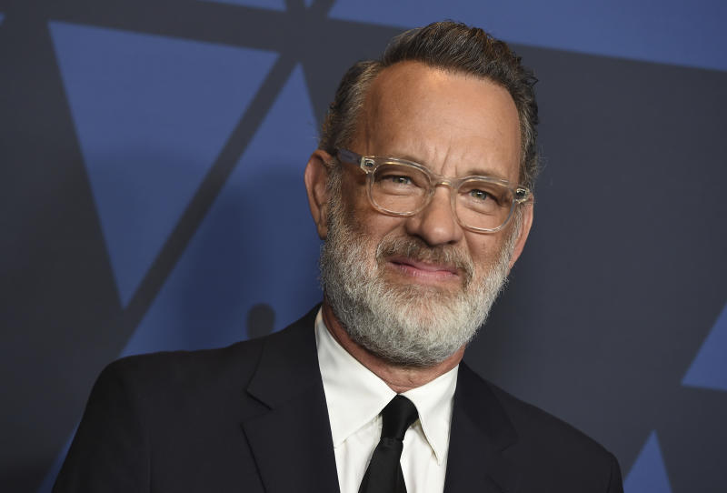 Tom Hanks arrives at the Governors Awards on Sunday, Oct. 27, 2019, at the Dolby Ballroom in Los Angeles. (Photo by Jordan Strauss/Invision/AP)
