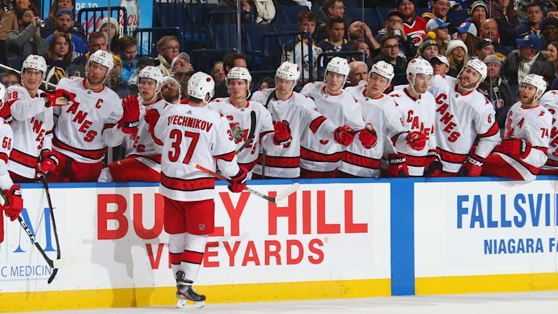 The Carolina Hurricanes might be playing their first outdoor game in franchise history. (Photo by Rob Marczynski/NHLI via Getty Images)