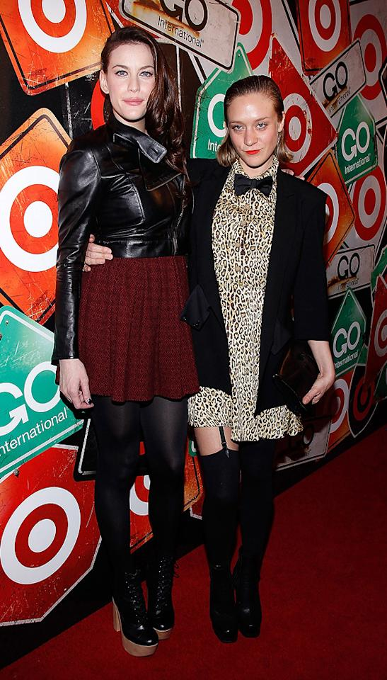 "Liv Tyler and Chloe Sevigny were just a few of the dedicated fashionistas who turned up to celebrate the fifth anniversary of Target's GO International Designer Collective in New York City Thursday night. How awesome are Liv's platform boots? Joe Kohen/<a href=""http://www.wireimage.com"" target=""new"">WireImage.com</a> - March 10, 2011"