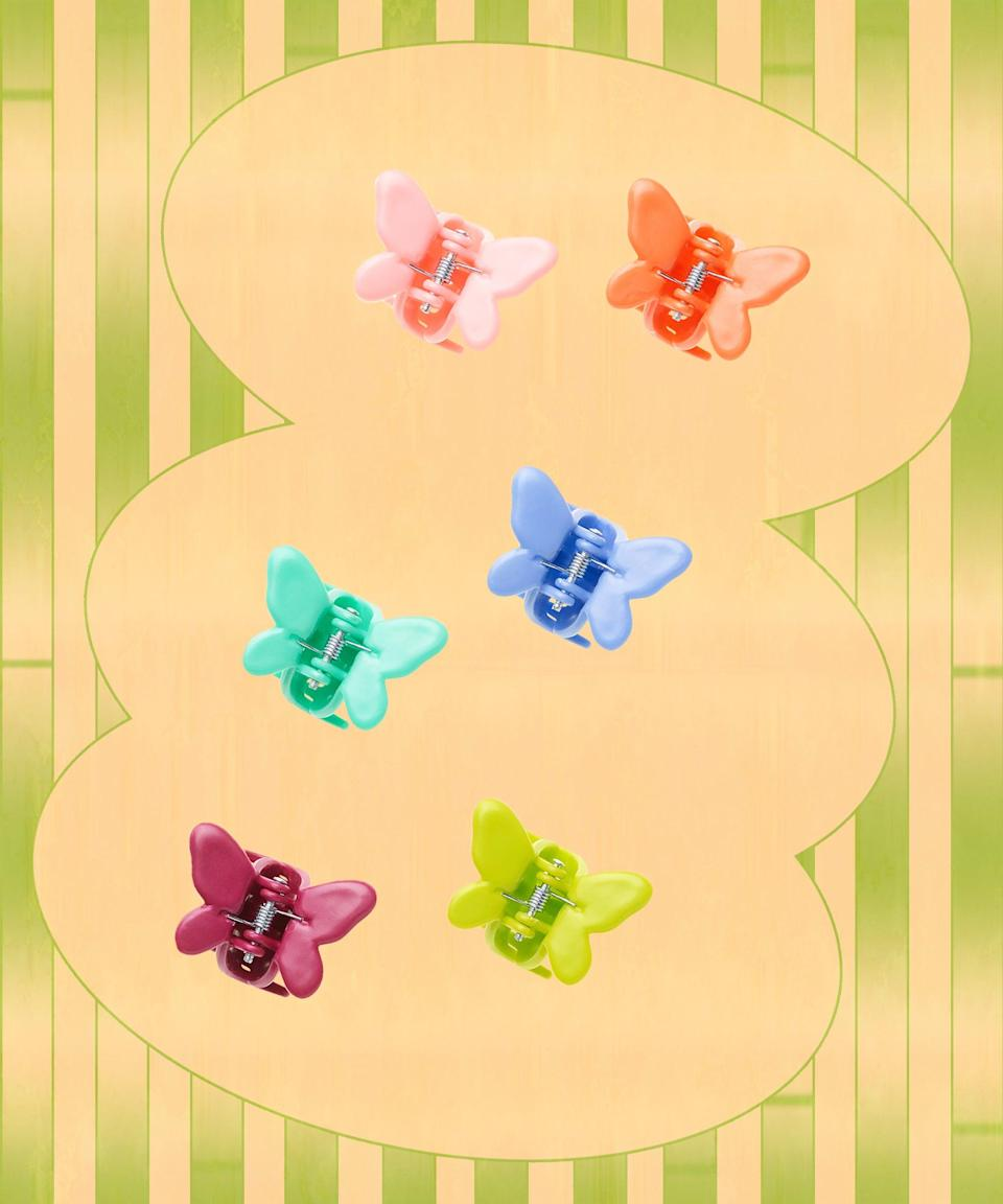Channel your inner '90s girl with these colorful butterfly clips, which are made from biodegradable cornstarch instead of plastic, which means they can break down over time.