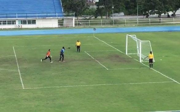 One goalkeeper in Thailand was punished for jumping the gun
