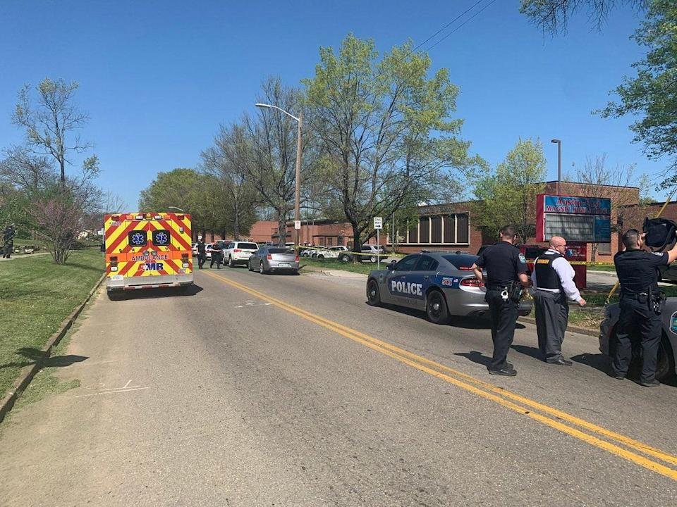 Knoxville Police on the scene of a shooting at Austin-East Magnet High School (Knoxville Police Department)