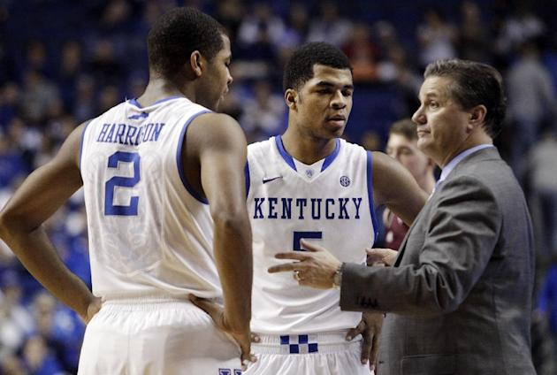 The Harrison twins might have played a big role in keeping John Calipari in Lexington. (AP)