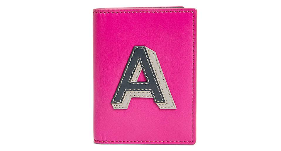John Lewis & Partners Leather Alphabet Card Holder