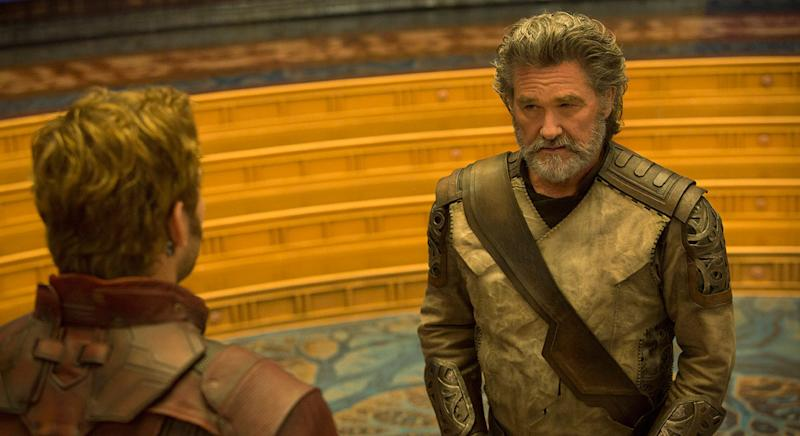Kurt Russell plays Star-Lord's estranged father Ego in 'Guardians of the Galaxy Vol. 2' (Disney)