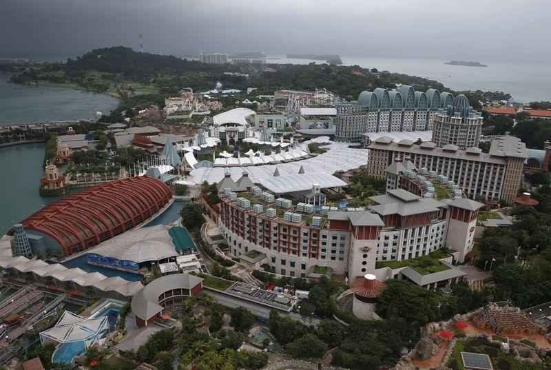 FILE PHOTO: A view of Genting Singapore's Resorts World Sentosa casino and hotel in Singapore