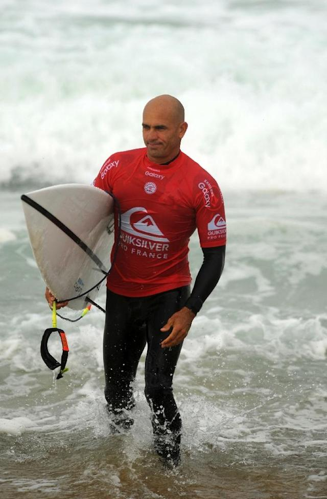 American surfer Kelly Slater, an 11-time world champion, has hailed the inclusion of surfing as an Olympic sport (AFP Photo/Iroz Gaizka)