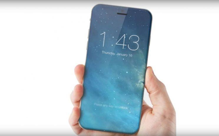 A concept image shows what the iPhone 8, or iPhone 10, could look like (ConceptsiPhone)