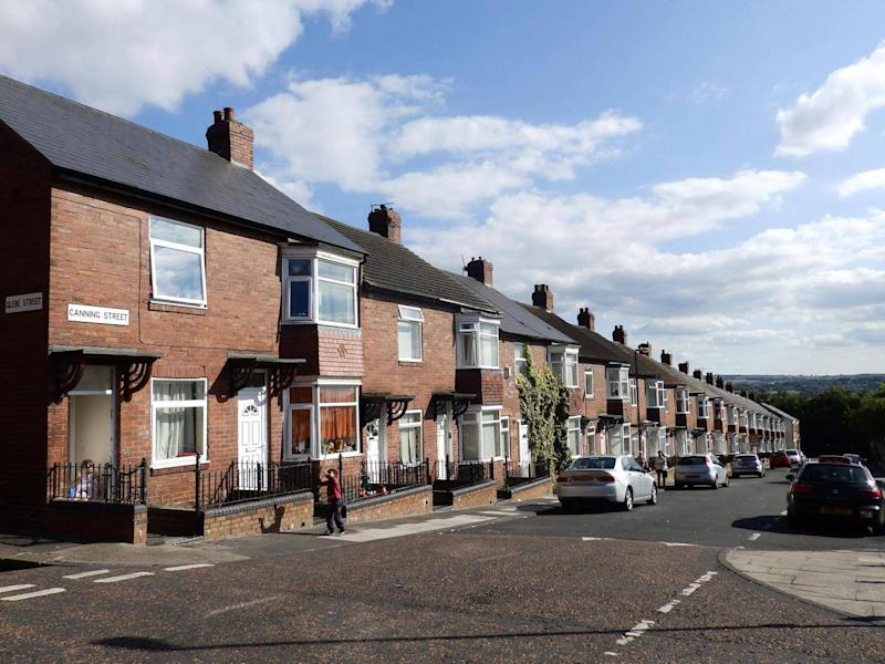 Canning Street in Newcastle, where grooming gang member Yassar Hussain lived (Lizzie Dearden)