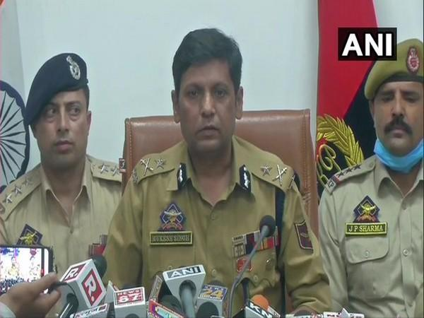 Mukesh Singh, Inspector General, Jammu Zone addressing a press conference on Saturday.