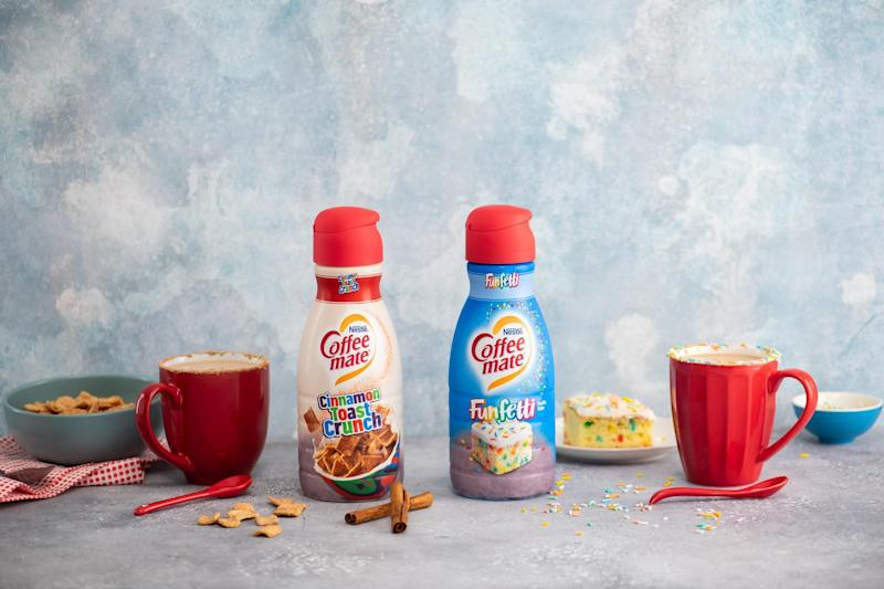 We tried new Cinnamon Toast Crunch and Funfetti creamers