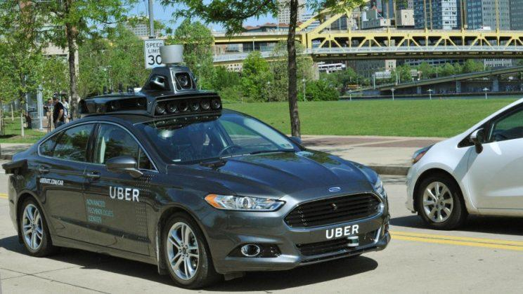 Uber self-driving car.