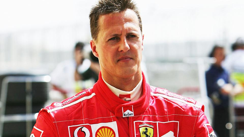 Michael Schumacher, pictured here in action at the Bahrain Grand Prix in 2005.