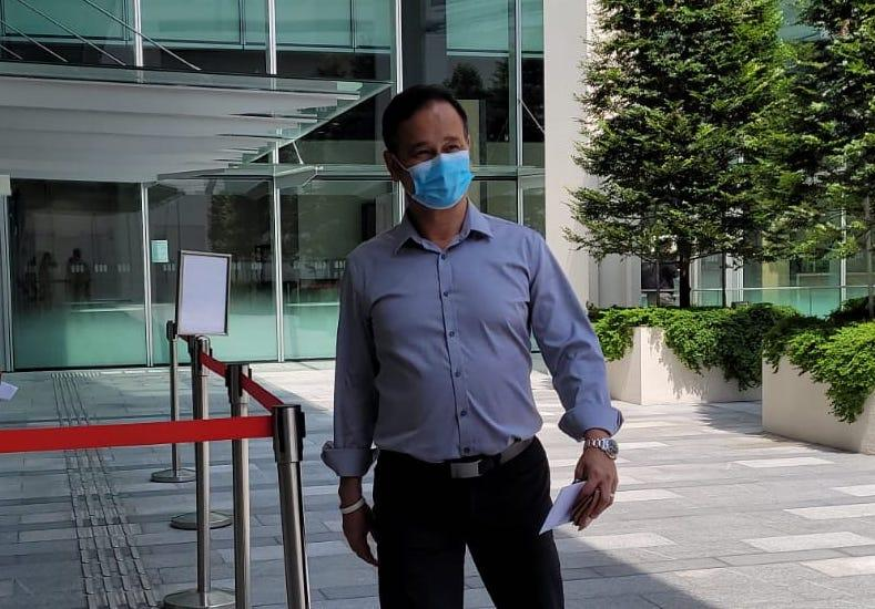 Gurmit Singh at State Courts to face a charge of speeding on 8 June 2021. (PHOTO: Yahoo News Singapore)