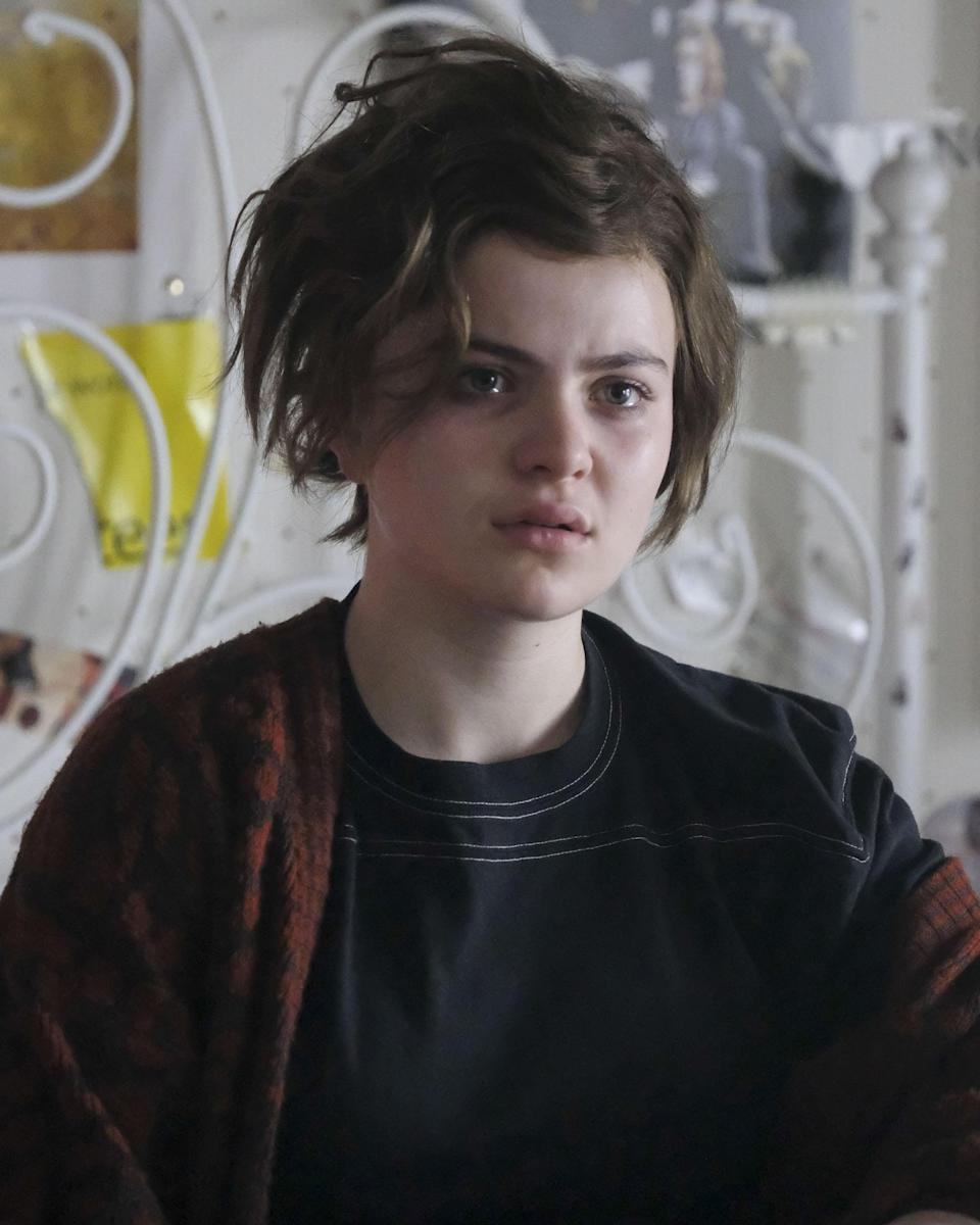 """<p>But as we know from the trailer, Jeannete's time at the top was short-lived. Her life quickly becomes completely derailed and her outward appearance follows. That choppy bob haircut that looks like she did it in her bathroom with a pair of kitchen scissors? It was masterfully created by Kirkpatrick in a scenario that wasn't too far off. </p> <p>""""I actually put the wig on myself and chopped it myself in the mirror to create that look of 'I've done this myself,'"""" he said. """"I don't know about you, but there've been times in my life where I feel like, <em>I really hate what's happening to me right now. I think I'll cut my hair off.</em> I've done that before so I put myself in her shoes to create that look.""""</p>"""