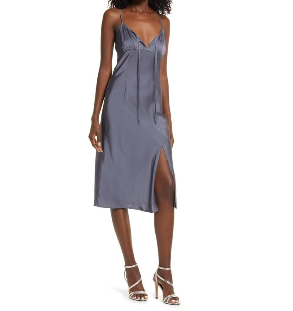 <p>It doesn't matter if you slip this over a turtleneck or wear it out to date night, one thing's for sure: this <span>Lulus Known to Be Wild Slipdress</span> ($48) is designed to make you feel extra special. </p>