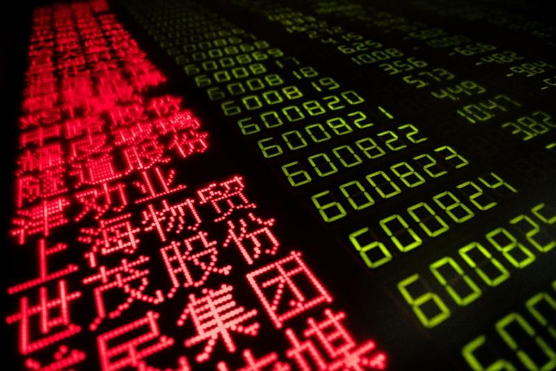 Asian markets joined the global stocks move into the red (AFP Photo/Nicolas ASFOURI)