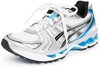 <p>Distance runners love these <span>Asics Gel-Kayano 14 Shoes</span> ($140).</p>