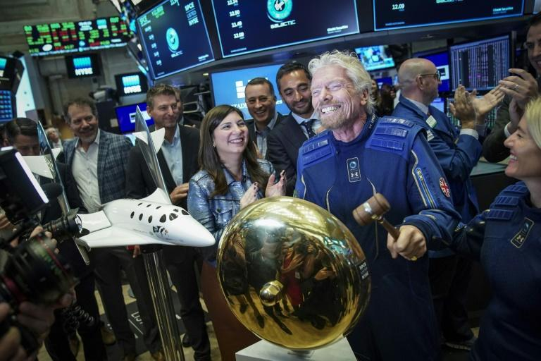 Richard Branson at the New York Stock Exchange in October 2019