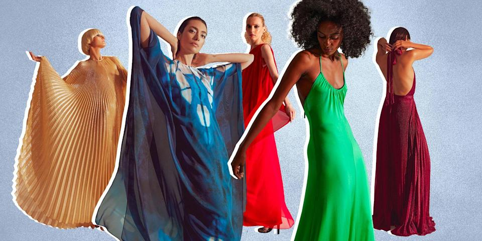 """<p class=""""body-dropcap"""">For some, watching Netflix's <em>Halston</em> limited series brought back memories of a bygone era. For others, it indulged their dreamiest Studio 54 fantasies, from the dancing and parties to the lethal decadence of lighting a sable coat on fire. And everyone wished we could promenade down West 54th Street in an original Halston. Now we can do the next best thing.</p><p>Halston and Netflix have collaborated on a limited edition capsule collection, with all of our favorite looks from the show. That breathtaking moment when <a href=""""https://www.townandcountrymag.com/style/jewelry-and-watches/a35935961/elsa-peretti-jewelry-remembrance/"""" rel=""""nofollow noopener"""" target=""""_blank"""" data-ylk=""""slk:Elsa Peretti"""" class=""""link rapid-noclick-resp"""">Elsa Peretti</a> glides down the runway in a blue printed caftan? Yours for the taking. Liza Minnelli's red dress? Wear it to your next night out—and maybe prepare a cabaret number just in case. It's a wish granted for all the times we have wanted to shop our screens during the pandemic (<em>The Queen's Gambit, </em>we're still waiting!)<em>, </em>and now we have the added joy of real opportunities to wear them out.</p><p>No one can catch lightning in a bottle, but the magic of Halston's designs, the strength of his muses, and the <a href=""""https://www.townandcountrymag.com/leisure/arts-and-culture/a36461517/halston-friends-townhouse-parties/"""" rel=""""nofollow noopener"""" target=""""_blank"""" data-ylk=""""slk:allure of disco"""" class=""""link rapid-noclick-resp"""">allure of disco </a>feels just right for this new era. Good design is a transference of power from the designer to its wearer. Halston walked the line between visionary and pragmatist, and the allure of his silhouettes and fabrics hold even 50 years later. So put on a platform heel, strut down the sidewalk, and be a <a href=""""https://www.townandcountrymag.com/style/fashion-trends/a36477983/halston-muse-outfits/"""" rel=""""nofollow noopener"""" target=""""_blank"""" data-ylk=""""slk:Halstonett"""