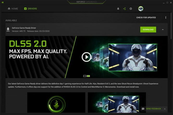 GeForce Experience Update Driver