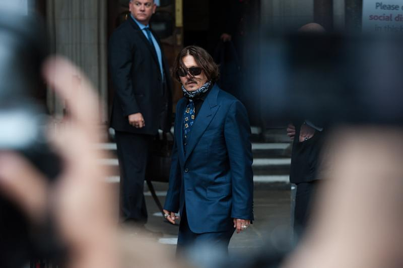 Johnny Depp In Libel Case Against The Sun Newspaper