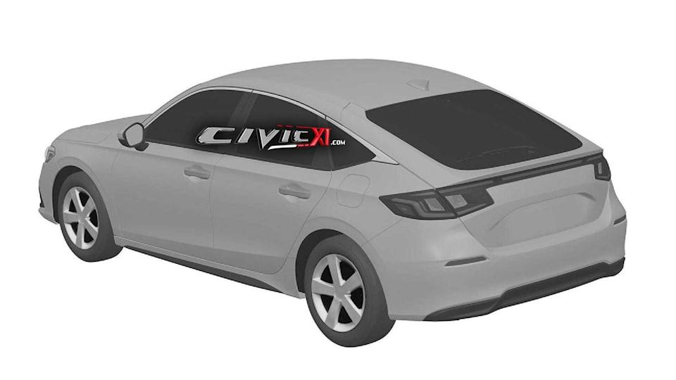 Honda Civic 11th Generation Design Trademark Rear Three Quarters