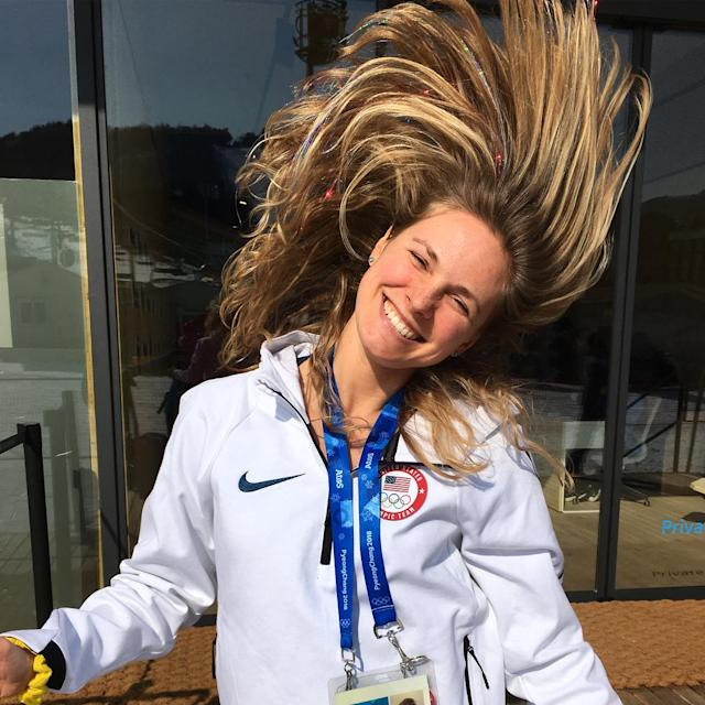 <p>Jessie Diggins USA, XC ski: Last Olympics, I may have gone a little overboard with the red, blonde and blue. This time around, it's straight sparkle. ✨ Just can't help myself! (Photo via Instagram/jessiediggins) </p>