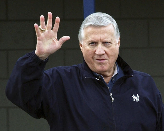 "The Baseball Hall of Fame's ""Today's Game"" era ballot features ten names, including former <a class=""link rapid-noclick-resp"" href=""/mlb/teams/nyy"" data-ylk=""slk:Yankees"">Yankees</a> owner George Steinbrenner. (AP Photo/Chris O'Meara, File)"