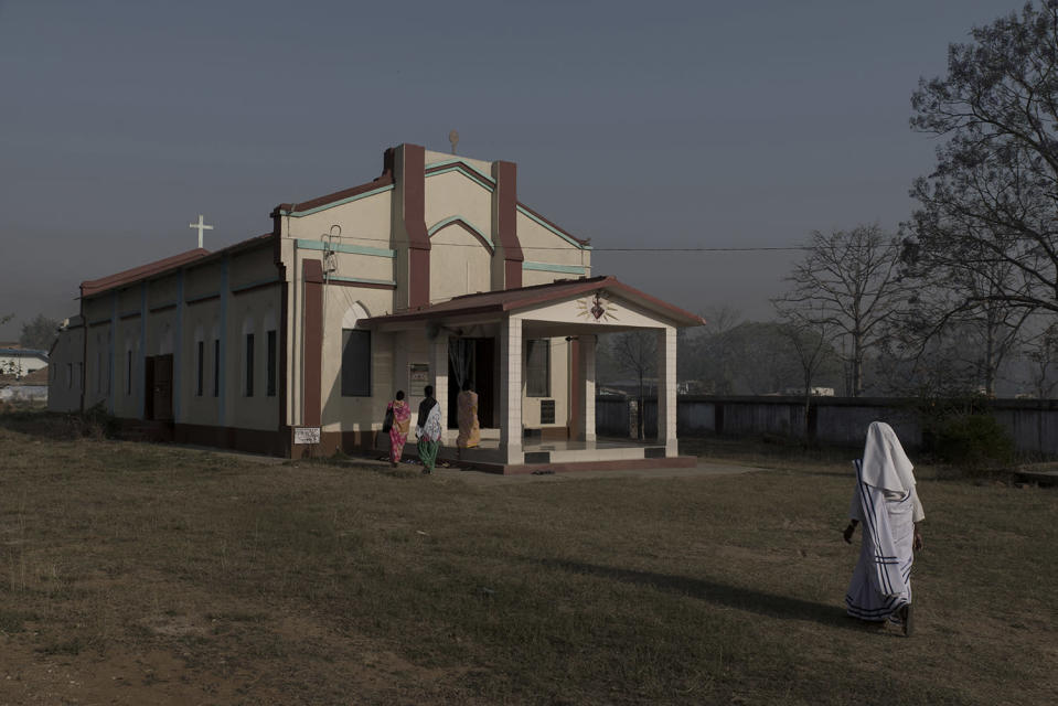 The Church at McCluskieganj that is visited mostly by the local tribal population.