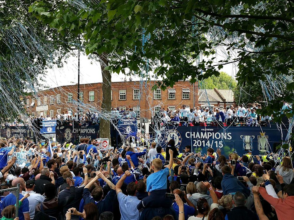 Chelsea's Premier League victory parade in 2015: Getty