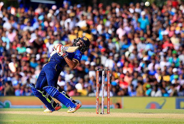Niroshan Dickwella looks like the only Sri Lankan to get a hang of things