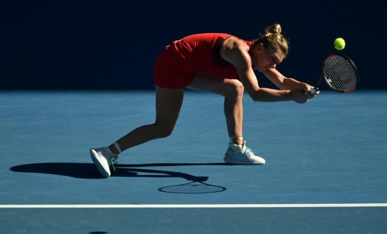 Romania's Simona Halep showed little of the form which helped her to the Shenzhen title during her dramatic first-round win at the Australian Open against Australian teenager Destanee Aiava 7-6 (7/5), 6-1