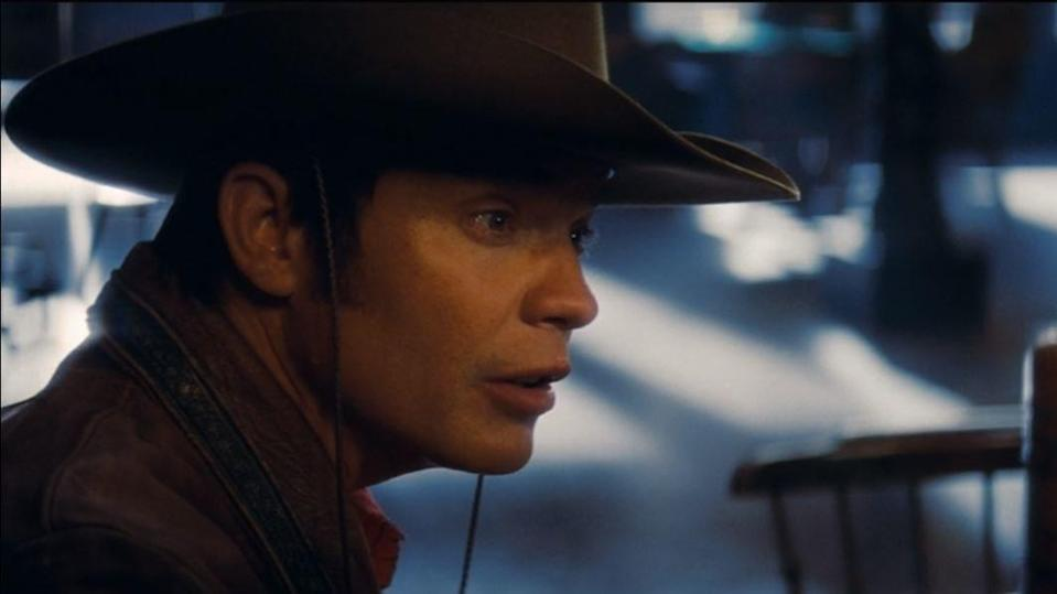 Timothy Olyphant as James Stacy playing Johnny Madrid