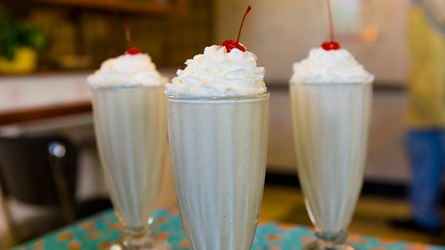 "<p>Peanut butter and jelly are a classic combo, and in milkshake form it's magical! You can use either grape or strawberry jelly to make it taste just like your favorite sandwich. </p> <p><strong>Get the recipe:</strong> <a href=""http://disneyparks.disney.go.com/blog/2020/05/disneymagicmoments-elbows-off-the-table-here-comes-the-peanut-butter-jelly-milk-shake-from-50s-prime-time-cafe/"" class=""link rapid-noclick-resp"" rel=""nofollow noopener"" target=""_blank"" data-ylk=""slk:Disney's peanut butter and jelly milkshake"">Disney's peanut butter and jelly milkshake</a></p>"