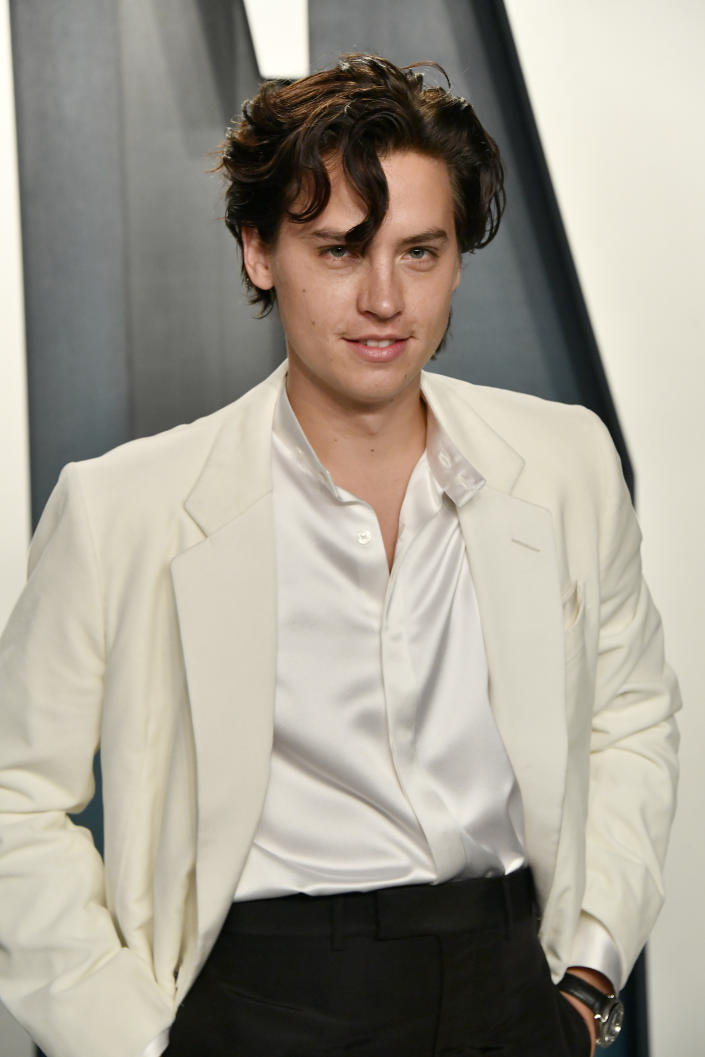 Cole Sprouse attends the 2020 Vanity Fair Oscar Party hosted by Radhika Jones at Wallis Annenberg Center for the Performing Arts on February 09, 2020 in Beverly Hills, California. (Photo by Frazer Harrison/Getty Images)
