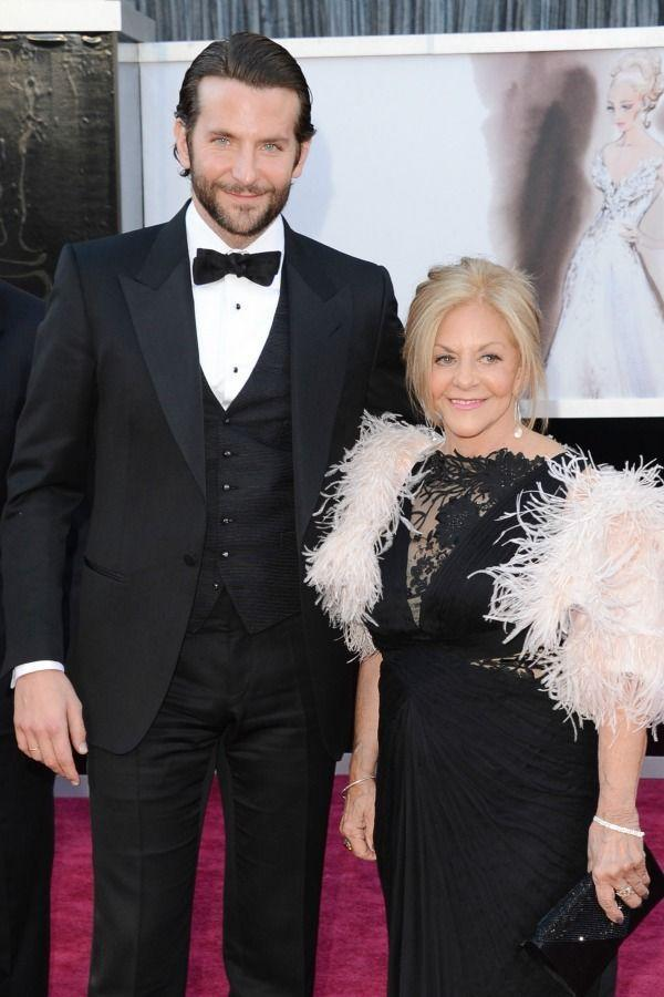 <p>Bradley and mom Gloria Campano were a smiling duo as they posed for the cameras at the 2013 Academy Awards.</p>