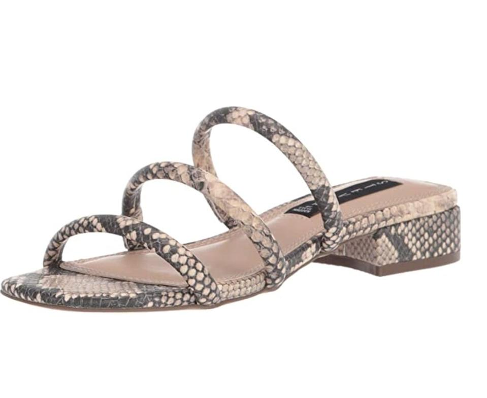 <p>If you're into the snakeskin trends, these <span>Steven by Steve Madden Hades Sandals</span> ($45 - $79) will become best friends with all your bottoms.</p>