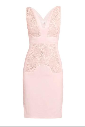 Subtlety counts, with this Antonio Berardi blush lace dress