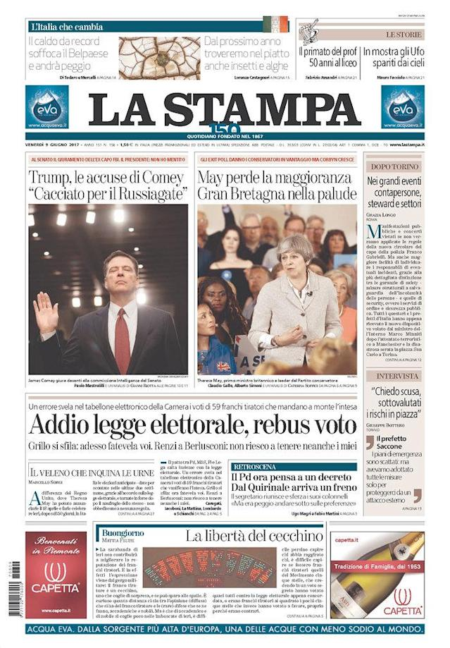 "<p>""La Stampa,"" published in Torino, Italy. (Newseum) </p>"