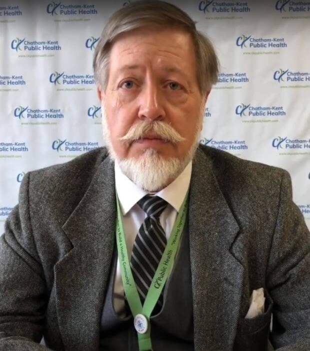Dr. David Colby is the medical officer of health for Chatham-Kent. (CK Public Health/YouTube - image credit)
