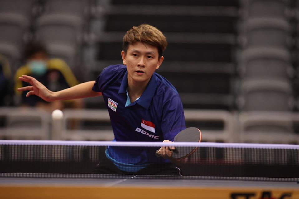 Singapore-born table tennis player Clarence Chew has qualified for the Olympic men's singles event.  (PHOTO: Singapore Table Tennis Association)