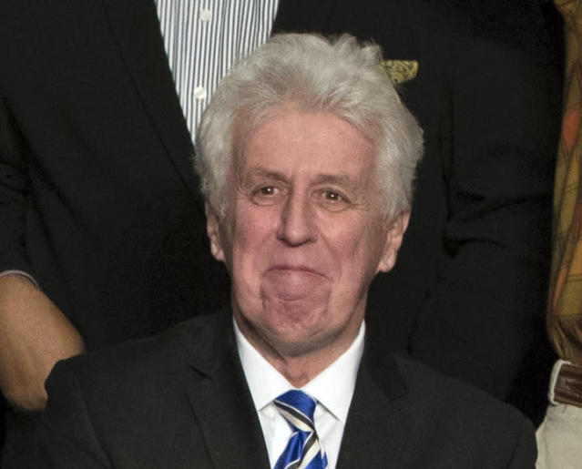 CNN commentator Jeffrey Lord appears at a rally for President-elect Donald Trump in Hershey, Pa., on Dec. 15, 2016. He is one of a handful of pro-Trump commentators CNN hired during the last election. (Photo: Matt Rourke/AP)