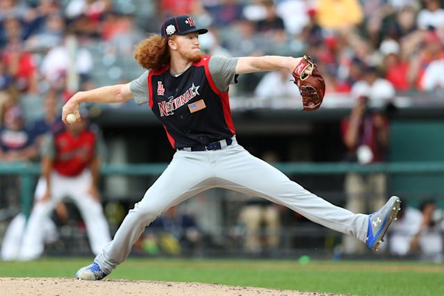 Dustin May is still in the Dodgers organization after the MLB trade deadline. (Getty Images)