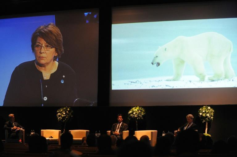 Mary Simon, pictured delivering a speech in 2009 in Stockholm, Simon, has previously served as president of Inuit Tapiriit Kanatami, Canada's national Inuit organization