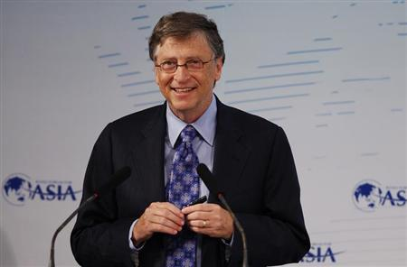 Microsoft founder Gates attends a session at the Boao Forum for Asia annual conference in Boao town