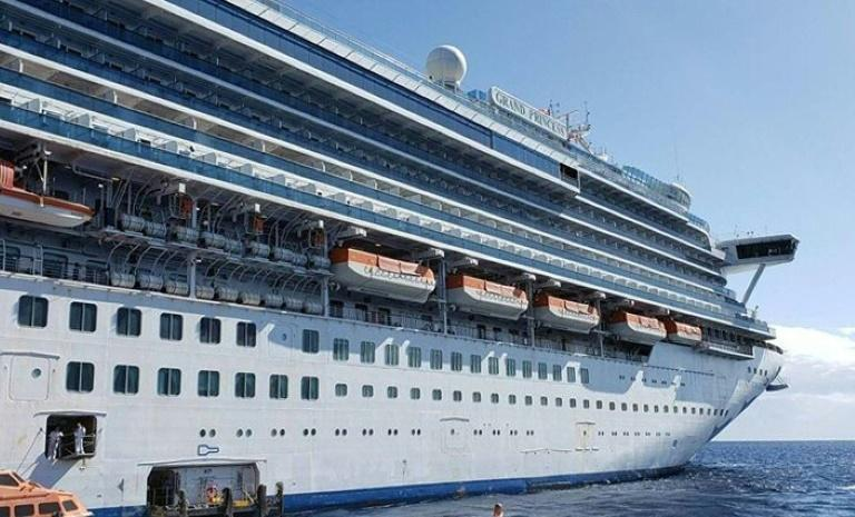 This handout photo taken and released by Carolyn Wright shows the Grand Princess cruise ship during a cruise to Hawaii in February 2020