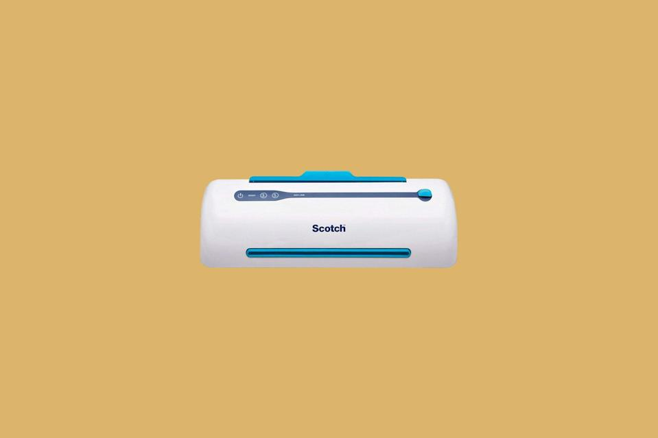 "<p>Labels, flashcards, signs, and work sheets all benefit from the investment of a laminator, but so many teachers rely on the school's. Gift them one of these appliances and anything can be turned into a dry-erase surface.</p> <p><strong><em>Shop Now: </em></strong><em>Scotch Thermal Laminator, $39.99, <a href=""https://www.amazon.com/Scotch-Laminator-Technology-Automatically-TL906/dp/B00CLV8ZIU/ref=as_li_ss_tl?ie=UTF8&linkCode=ll1&tag=mslggteacherchristmasgiftsachurchilloct20-20&linkId=52a4b39e614ee60eba825767dbd62dcd&language=en_US"" rel=""nofollow noopener"" target=""_blank"" data-ylk=""slk:amazon.com"" class=""link rapid-noclick-resp"">amazon.com</a></em><em>.</em></p>"